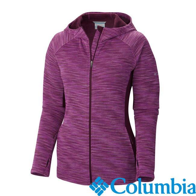 《台南悠活運動家》Columbia 美國 女快排刷毛連帽外套 紫紅 54120PD