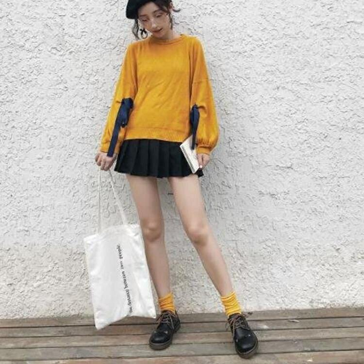 復古小皮鞋女英倫少女日系單鞋韓版百搭休閒鞋春款學生學院風jk鞋