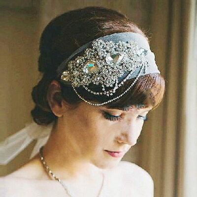 髮飾髮帶鑲鑽頭飾 ~ 高貴典雅情人節生日 女飾品73ex24~ ~~米蘭 ~