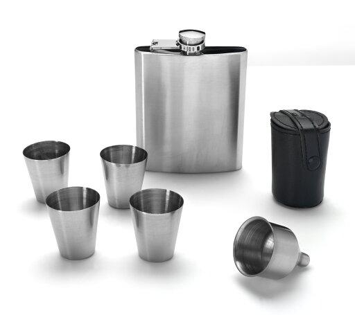 Eravino Stainless Steel 7 oz. Liquor Flask Set 165cd32dd88260eab0cd68e276de3d95