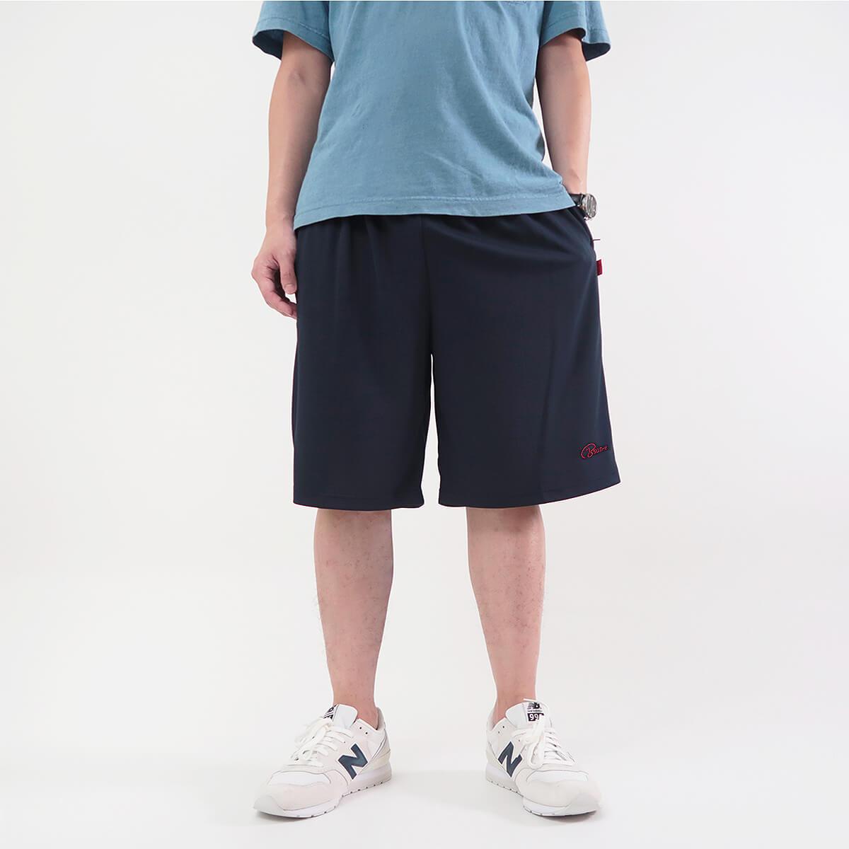 加大尺碼吸濕排汗運動短褲 拉鍊口袋台灣製運動褲 排汗速乾短褲 球褲 大尺碼男裝 機能纖維彈性短褲 休閒短褲 Big_And_Tall Made In Taiwan Sport Shorts Track