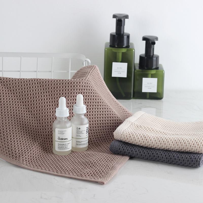 小方巾純棉正方形四方全棉吸水速干擦頭洗臉家用女兒童小毛巾1入