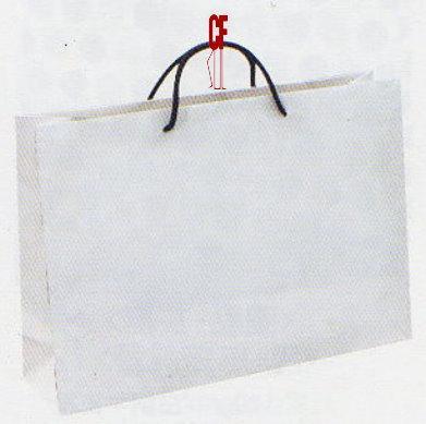 紙袋2K~20入~白牛雙銅~黑棉把 pbag~014