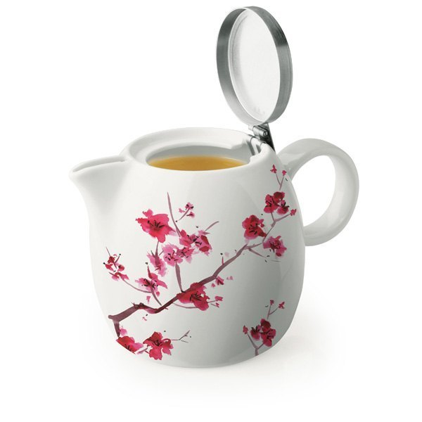 Tea Forte 普格陶瓷茶壺 - 櫻花 Cherry Blossoms 1