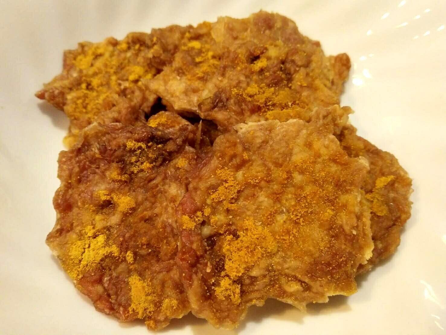 納柴手作寵物鮮食 - 豬肉小圓片 (薑黃) 50g