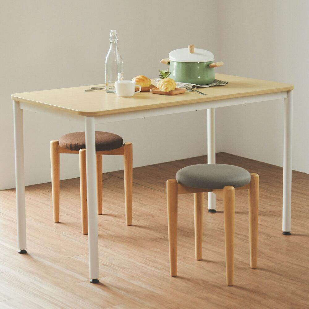 桌子/北歐風/書桌/工業風 簡約無印風圓角120cm工作桌 MIT台灣製 完美主義【L0018】