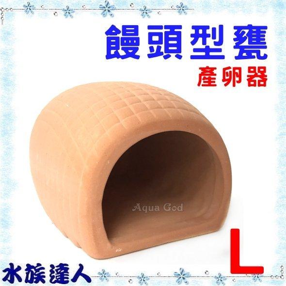 【水族達人】【裝飾品】陶瓷《陶瓷饅頭型甕 大 F-1035-L 》產卵器 繁殖 躲藏  小魚 短鯛的最愛!