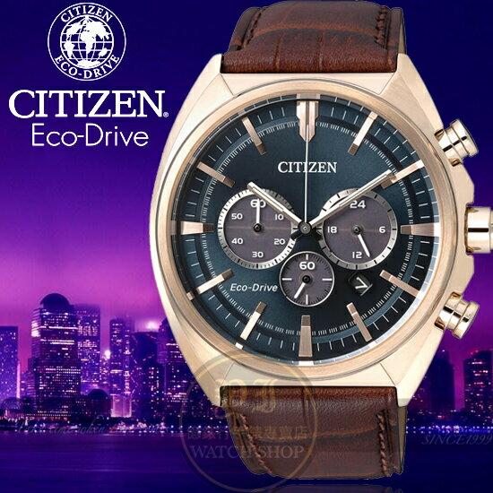 CITIZEN日本星辰金城武代言ECO-Drive2016聖誕節推薦紳士腕錶CA4283-04L公司貨