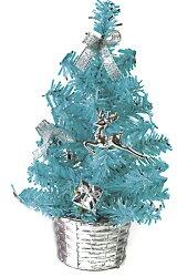 X射線【X805150】繽紛成品小樹(藍),聖誕樹/聖誕佈置/聖誕燈/會場佈置/材料包/成品樹/小樹