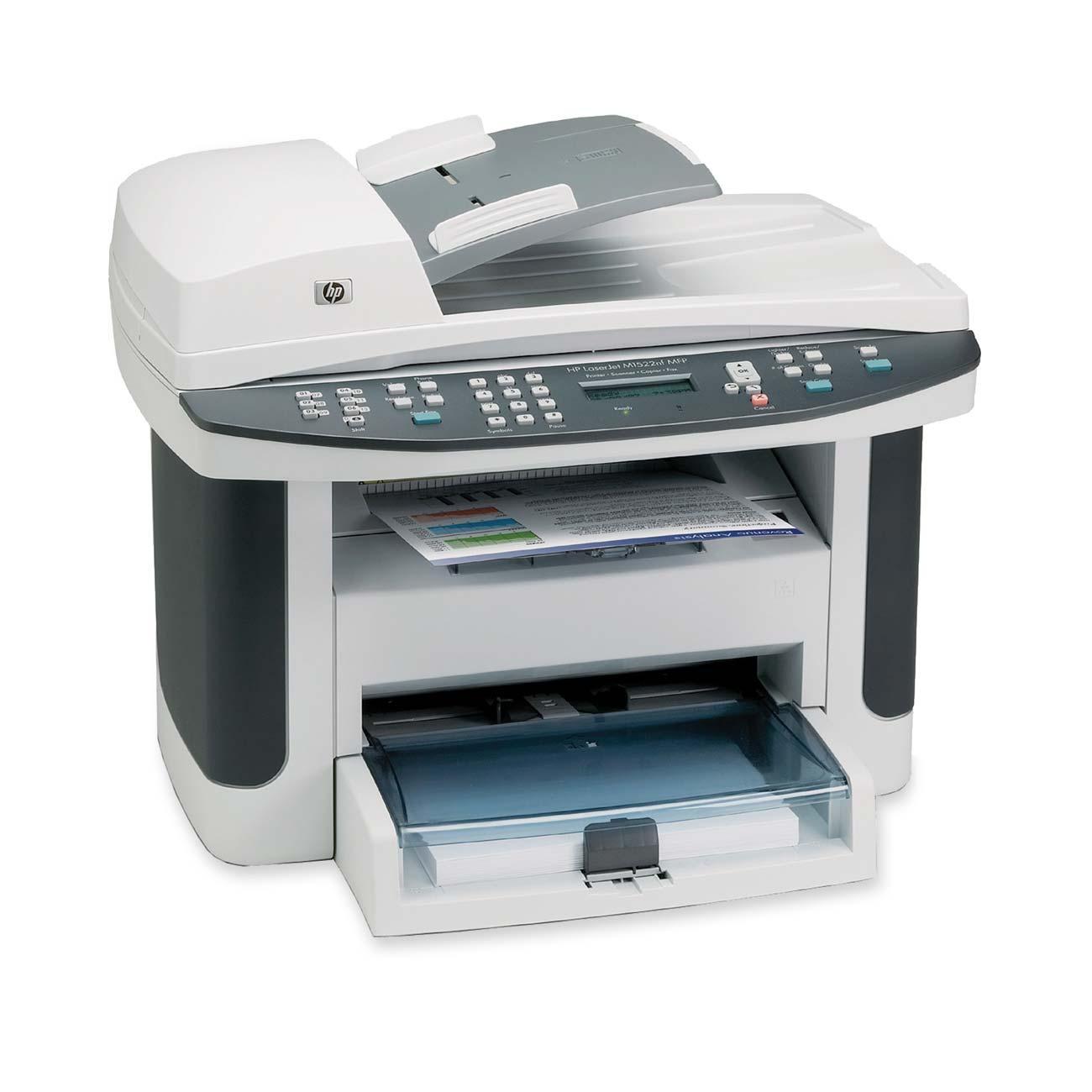 HP LaserJet M1522NF Multifunction Printer - Monochrome - 23 ppm Mono - 600 x 600 dpi - Fax, Copier, Scanner, Printer 0
