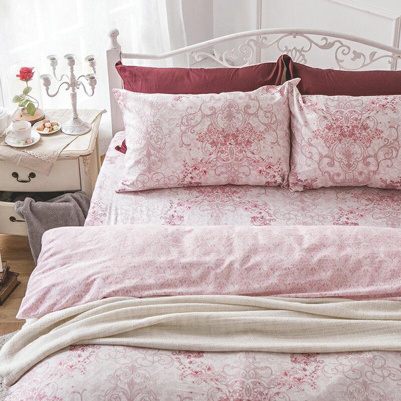 床包被套組  /  雙人加大-100%精梳棉【靜影愛戀】60支精梳棉 含兩件枕套 戀家小舖 台灣製 7