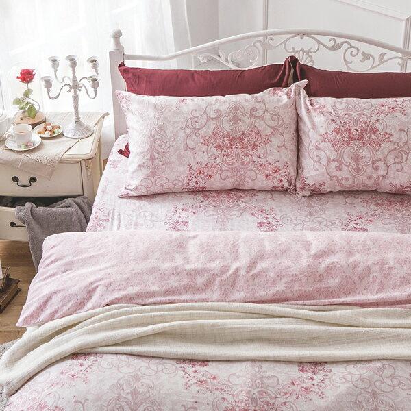 戀家小舖:床包雙人加大-100%精梳棉【靜影愛戀】60支精梳棉,含兩件枕套,戀家小舖,台灣製