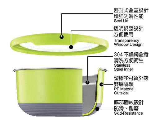 TOP-CHEF 不鏽鋼保鮮碗- 顏色隨機出貨(1200ML) [大買家] 4