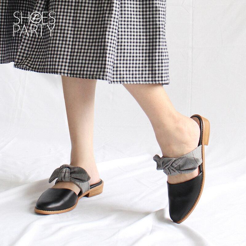 【S2-18609L】異素材蝴蝶穆勒鞋_Shoes Party 3