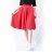 中大尺碼--時尚俏麗名媛高腰半身裙隱形拉鍊中長款赫本傘裙蓬蓬裙(黑.紅XL-5L)-Q71眼圈熊中大尺碼 1