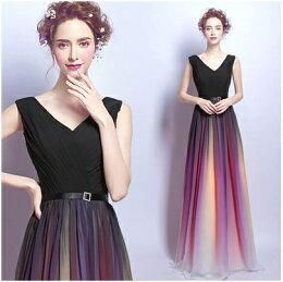 天使嫁衣無袖 漸變色 特色長禮服 預購訂製