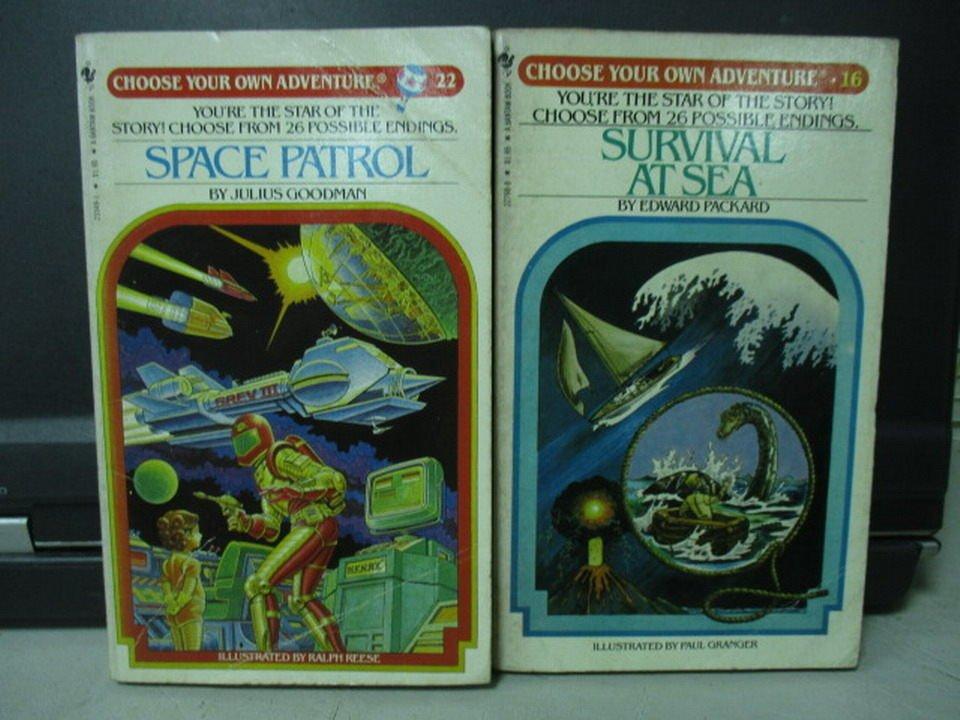 【書寶二手書T3/原文小說_LOU】Space patrol_Survival atsea_共2本合售