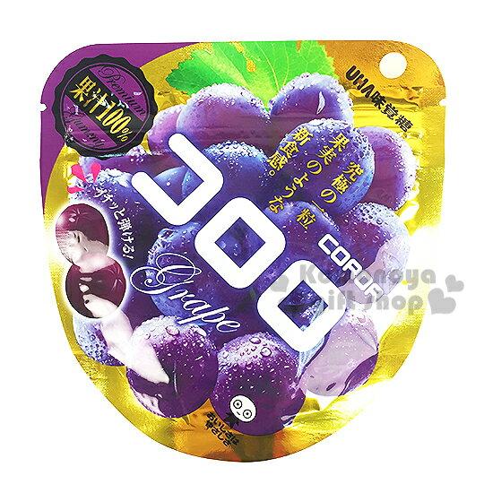 〔小禮堂〕日本原產 UHA味覺糖 葡萄酷露露Q糖《40g》