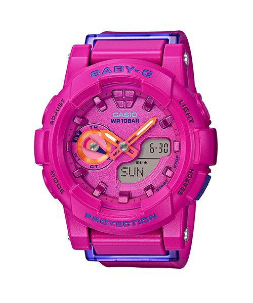 CASIO BABY-G BGA-185FS-4A 運動服靈感流行腕錶/粉紅色44mm