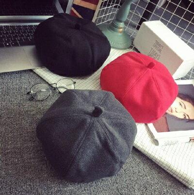 ★貝雷帽 毛呢帽-秋冬百搭英倫復古女帽子2款72b11【獨家進口】【米蘭精品】 0
