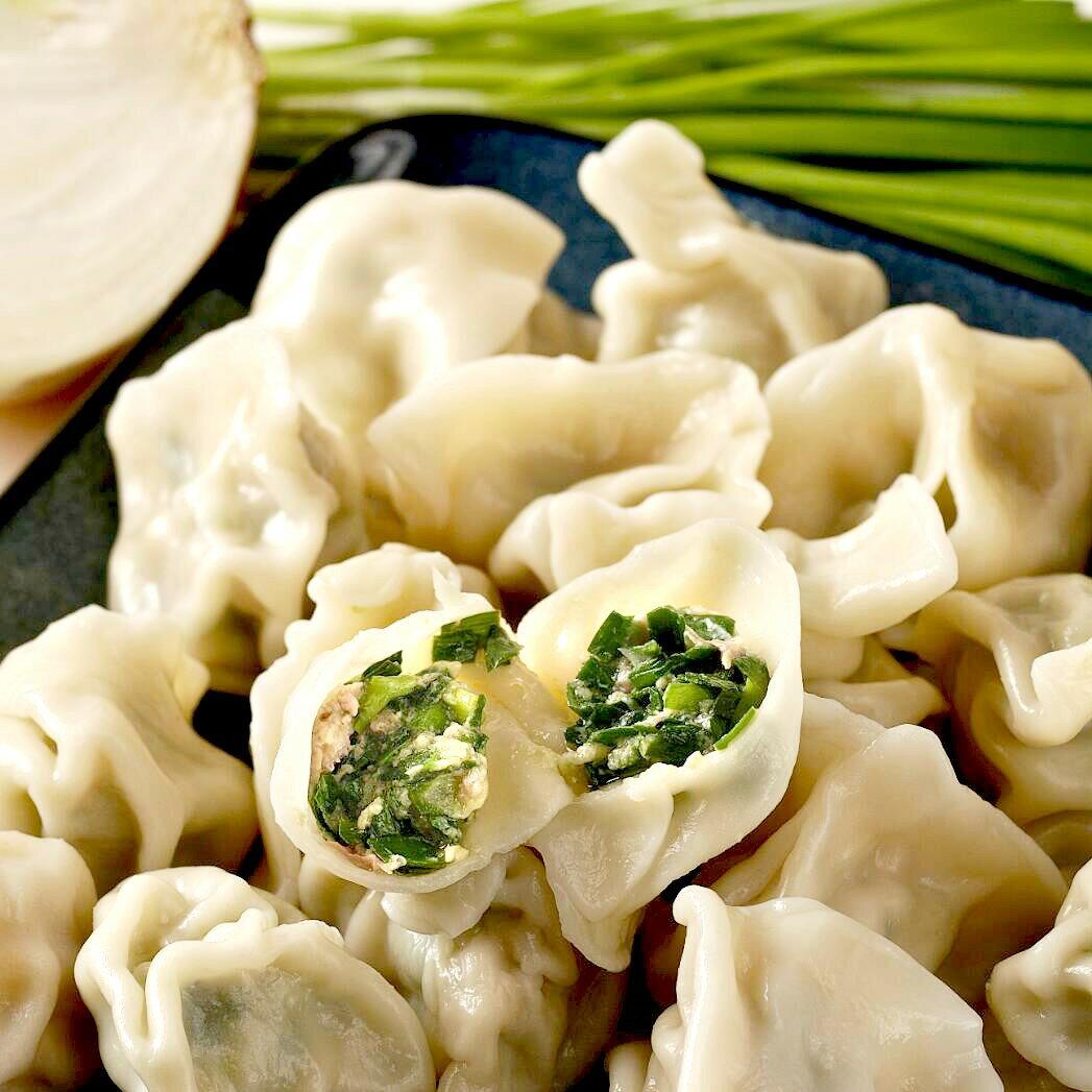 韮菜豬肉水餃-30顆 / 包