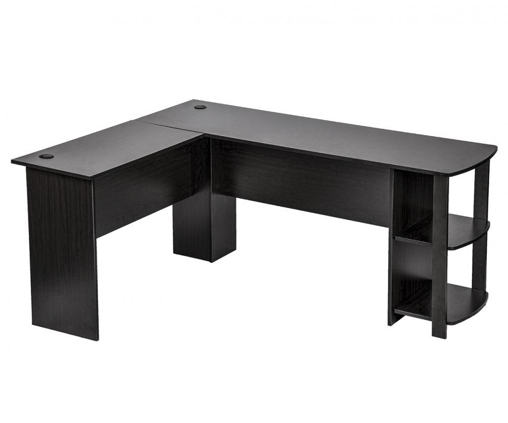 L Shaped Corner Computer Desk Black 0