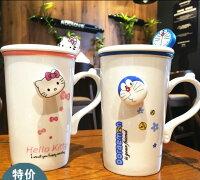 小叮噹週邊商品推薦小叮噹陶瓷杯藍胖子kitty凱蒂貓學生馬克情侶牛奶咖啡杯