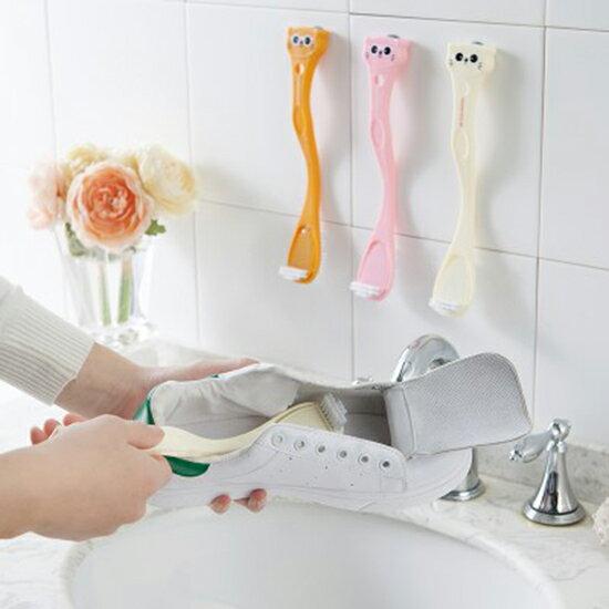 ♚MY COLOR♚卡通雙頭長柄洗鞋刷 塑料 鞋刷 刷鞋 清潔刷 洗衣刷 洗鞋刷 清潔 換季【N371】