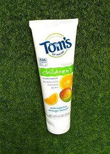 《★代購★美國Tom'sofmaine》幼兒含氟牙膏-芒果柳橙口味(119g)美國代購平行輸入溫媽媽