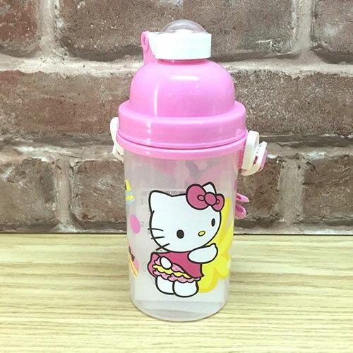 【真愛日本】17042400004 彈跳吸管水壺-500CCKT屁屁 三麗鷗 Hello Kitty 凱蒂貓 水瓶 正品