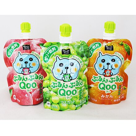 [敵富朗超市]Qoo果凍飲便利包-水蜜桃(125g) 1