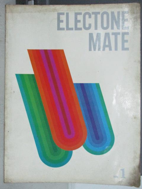 【書寶二手書T1/音樂_QOA】Electone Mate_電子琴教程1