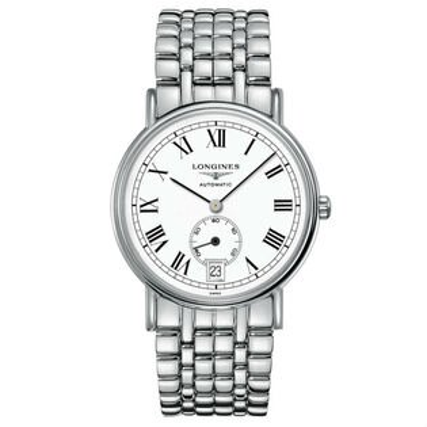 LONGINES浪琴表當代系列L48054116經典羅馬腕錶白面38.5mm