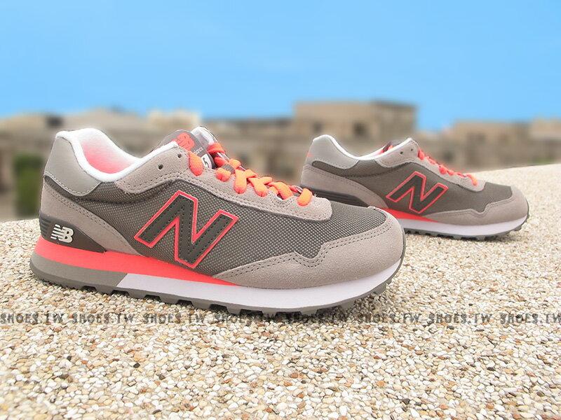 Shoestw【WL515SLA】NEW BALANCE NB515 復古慢跑鞋 灰螢光桃橘 女生尺寸