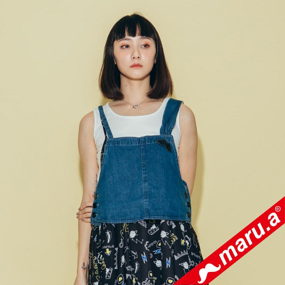 【maru.a】超可愛蝴蝶結牛仔背心 8313122 4