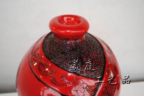 客廳擺件紅妝花瓶擺設