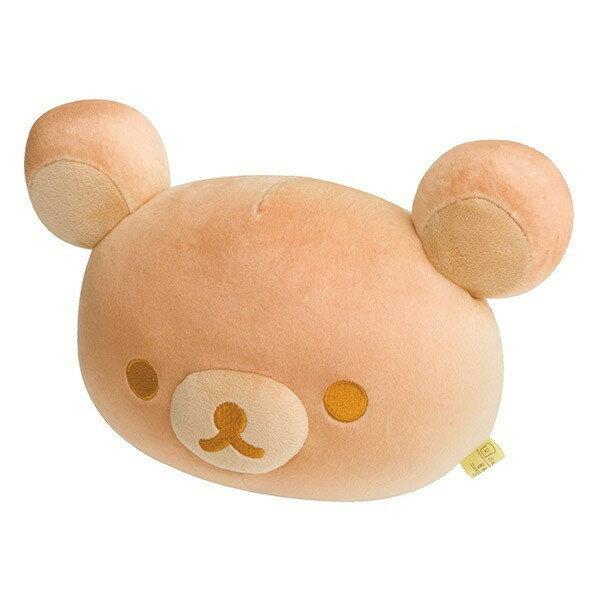 【真愛日本】17050300027 土司系列麵包公仔-懶熊大頭 SAN-X 懶熊 奶妹 奶熊 娃娃 抱枕 靠枕 療癒