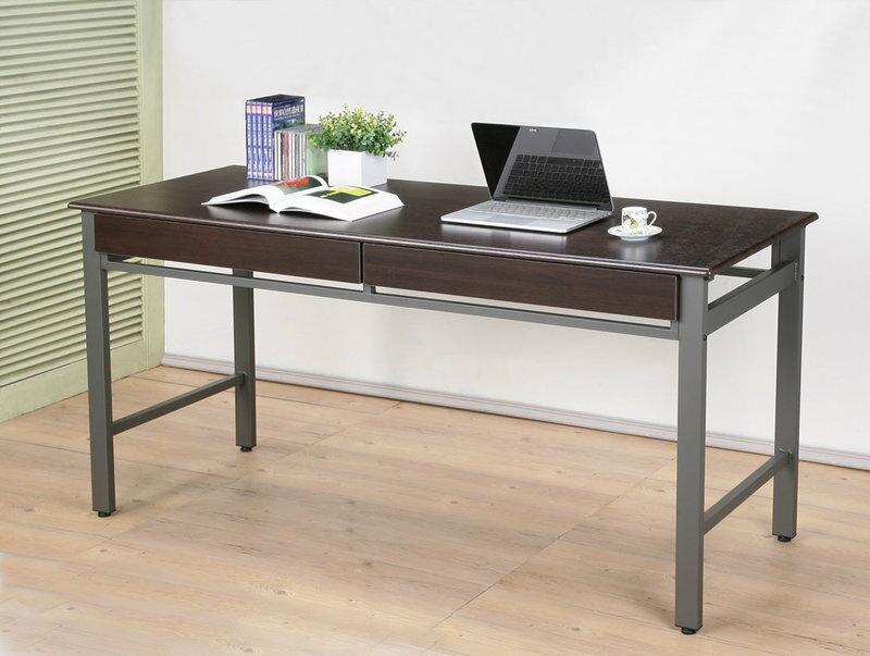 環保低甲醛熱壓成型無銳角雙抽電腦桌 會議桌 工作桌 書桌【馥葉】 型號D160WA-2DR 超優質穩固耐用