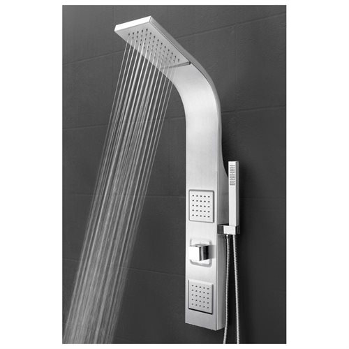 "39"" Shower Panel Tower Handheld Shower Head Wand Body Spray Wall Mount Rainfall AKSP0039 0"