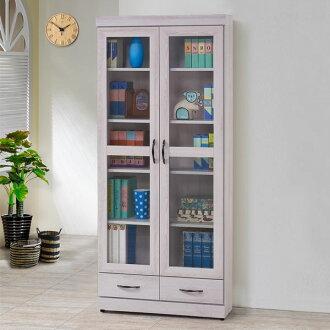 書櫃 有門書櫃 附抽書櫃 大型書櫃 收納櫃 櫥櫃 展示櫃 置物櫃 收納櫃《Yostyle》艾薇2.7尺下抽書櫃