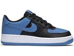 NIKE AIR FORCE 1 LOW 藍黑 大童鞋 女鞋 US 6.5~7 596728-041 J倉