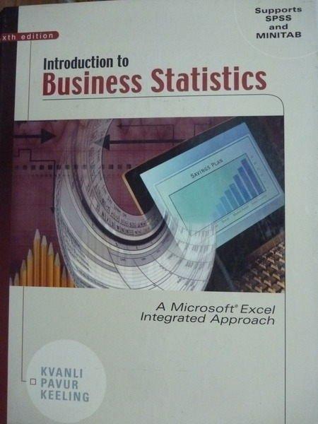 【書寶二手書T2/大學商學_QNV】Business Statistics_Kvanli,etc_6/e