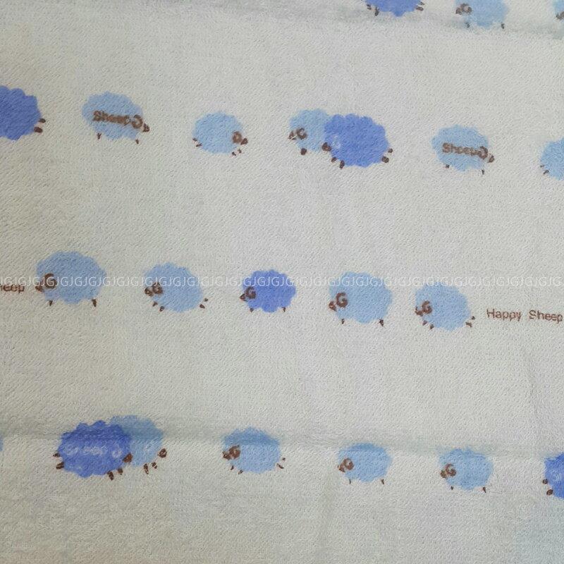 JG附發票~綿羊款 MIT台灣製造100%純綿毛巾尺寸約:33*76公分,枕巾洗澡巾擦臉巾運動巾擦髮巾