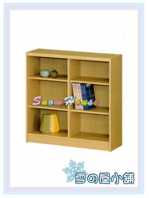 ╭☆雪之屋居家生活館☆╯AA554-01 B-33白橡木書櫃(美背式)/置物櫃/收納櫃/展示櫃/附活動隔板4片