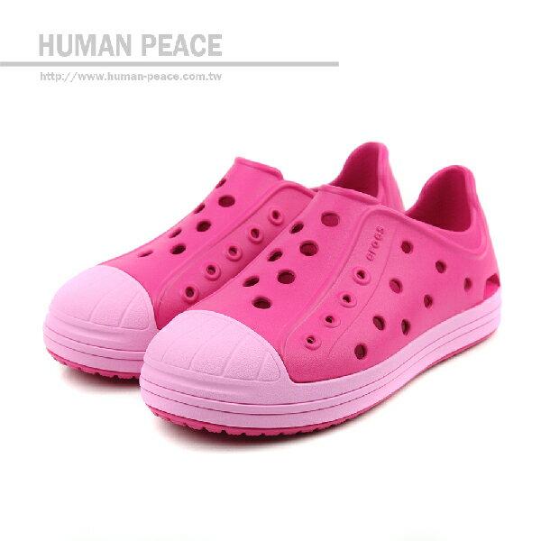 Crocs 休閒鞋 桃紅 童 no293