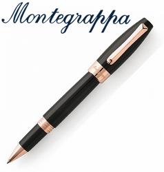 義大利Montegrappa萬特佳 財富系列 - 鋼珠筆 (黑-金夾) ISFORRRC / 支