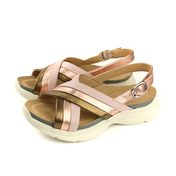 Kimo涼鞋厚底鞋女鞋橘金色K18SF132025no792
