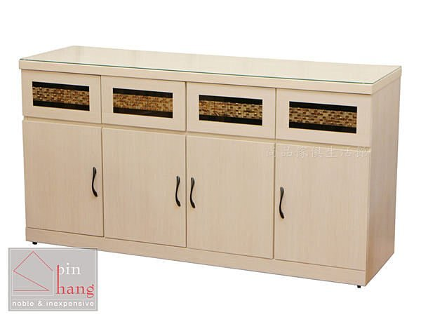 【尚品傢俱】712-05 奧尼爾 四抽四開門5尺餐櫃~馬賽克造型磁磚裝飾碗盤碟櫃/收納櫃