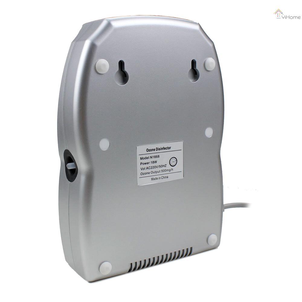 YiHome 果蔬消毒臭氧滅菌器家用臭氧消毒機廚房小家電適用於水中和空氣中銀色歐規