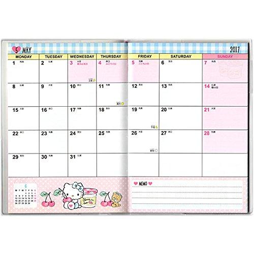 Hello Kitty2017年曆手冊B6,年曆 / 月曆 / 日曆 / 黃道吉日 / 黃曆 / 農民曆 / 行事曆,X射線【C607381】 1